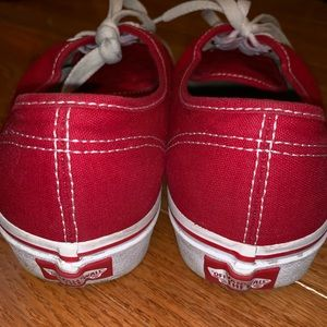 """Red Vans in the style """"Era"""""""